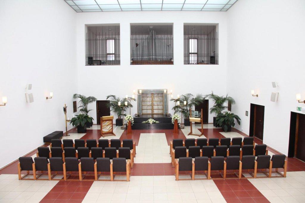 Velká obřadní síň krematoria